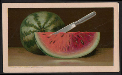 Arbuckle's Ariosa Coffee VTG Victorian Trade Card Cooking Watermelon Recipe #30