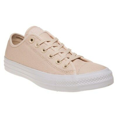 top fashion autumn shoes another chance NEW WOMENS CONVERSE Nude Pink All Star Ox Leather Trainers ...