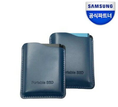 Samsung T5 portable SSD Genuine Leather case Premium pouch (1Pcs)