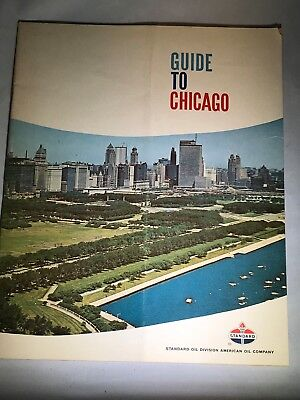 Vintage 1964 Standard Oil Guide to Chicago Ill. w/Maps and Tourist Information