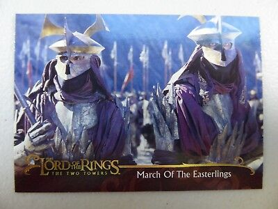 TOPPS Lord of the Rings: The Two Towers - Card #44 MARCH OF THE EASTERLINGS