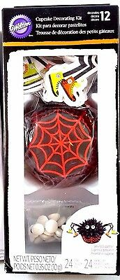 WILTON SPIDER Cupcake Decorating Kit -12 Spiders Party /Gift Theme NIB Very Cute