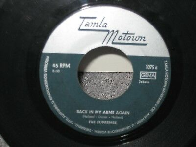 """Single The Supremes """"Back in my Arms again/Whisper you love me, Boy"""""""