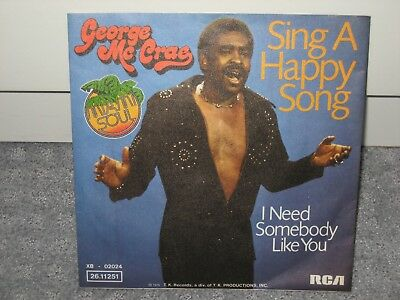 """Single George McCrae """"Sing a happy Song/I need somebody like you"""""""