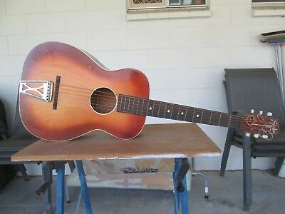 Vintage Silvertone Parlour Guitar Made in the USA very good original condition