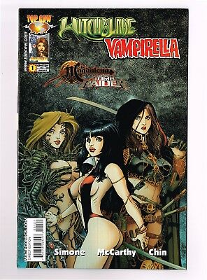 WITCHBLADE VAMPIRELLA #1 Arthur Adams Variant Magdalena Tomb Raider Top Cow NM