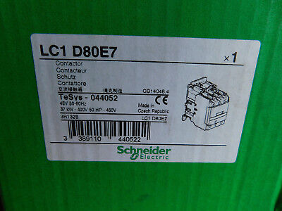 SCHNEIDER Electric  TeSys  LC1 D80E7  Contactor