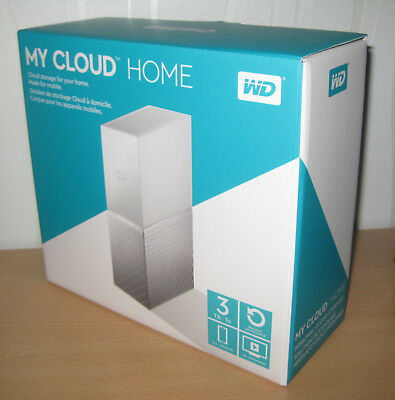 Western Digital My Cloud Home 3TB Extern WDBVXC0030HWT-00 OVP