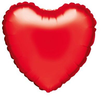 Betallic F10004H Heart-Shaped Foil Balloon, 18 Inches, Red