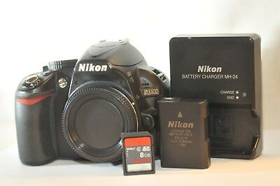 Nikon D D3100 14.2 MP Digital SLR Camera body ONLY 8 GB card shutter count 11485