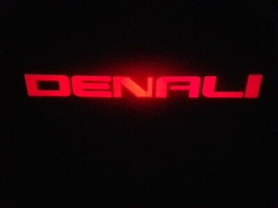 2Pc Red Denali 5W Led Emblem Door Projector Ghost Shadow Puddle Logo Light