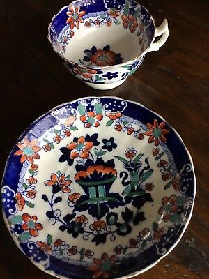 Antique tea cup and saucer. Crown Staffordshire