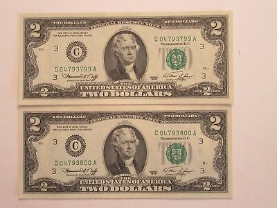 TWO consecutive $2 1976 FRN