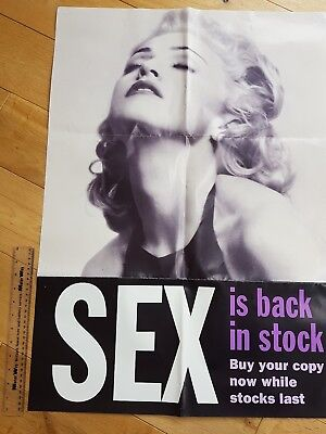 Large Vintage madonna promo poster SEX book. 1992.promotional.collectable.rare.
