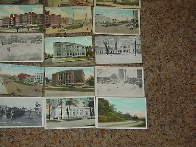 Vintage  Postcards 1900's Fifteen Postcards New York State Watertown Etc Towns