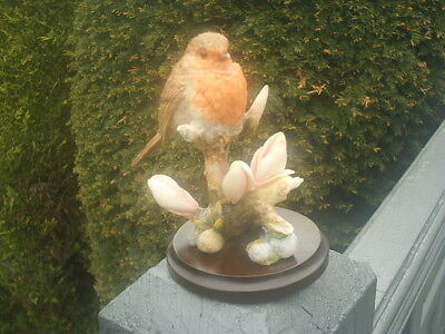 COUNTRY ARTISTS BROADWAY BIRDS figurine ROBIN WITH MAGNOLIA 02501 Very Good 2002