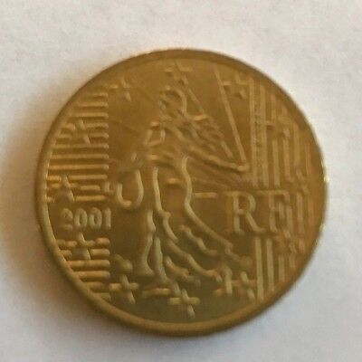 50 Cent Euro 2001 Coin RF Circulated + 1 euro coin 2002 circulated