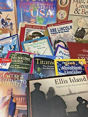 MIXED LOT 20 children's elementary US American history nonfiction books random