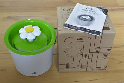 Catit Flower Cat Water Drinking Fountain - never used by awkward cat!