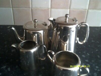 Vintage silver plated 4 piece teas set
