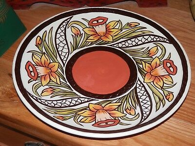*stunning* Lorna Bailey Large Daffodil  Charger Plate  11.5 Inch *excellent*