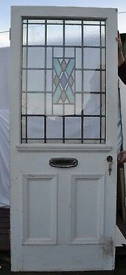 Secondary glazed stained glass front door R678a SHIPPING INSURANCE INCLUDED