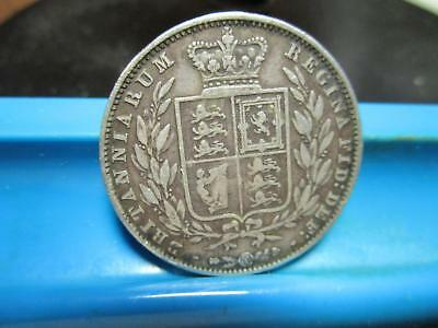 1850 - Great Britain - 1/2 Crown - Silver - VF                   D-12
