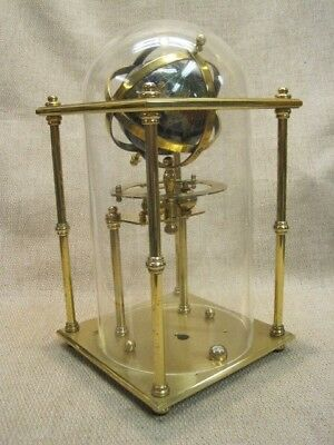 """11"""" Glass Dome & Solid Brass Clock Base/Frame"""
