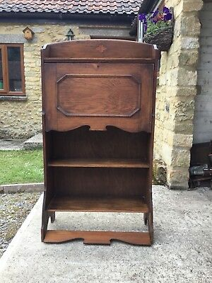 Antique Arts and Crafts Bureau / Writing Desk Book Case Small