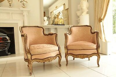 A Pair Of Splendid Antique French Bedroom Chairs