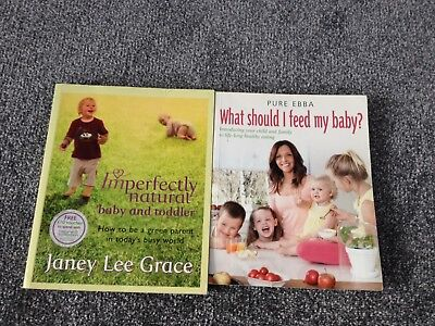 Baby & Toddler Cookbook & Health books x2 Pure Ebba & Imperfectly Natural