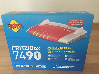 AVM FRITZBox 7490 1300 Mbps Wireless N Router (20002584)