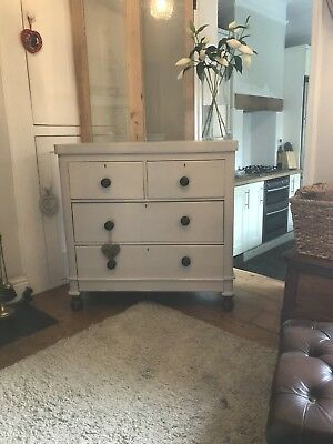 Antique Victorian chest Of Drawers Painted In Fartow And Ball Elephants Breath
