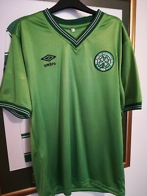 Celtic FC Lime Green 1986 Away Shirt. Rare remake. New, unworn, large 44 chest