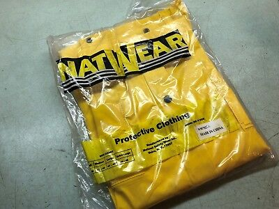 NAT WEAR  Protective Clothing Yellow Rain Suit Style NW70 Large