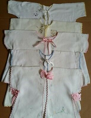 Lot of 5 Vintage 1950s Baby Child Boy Girl Flannel Robe Kimono Bed Jackets