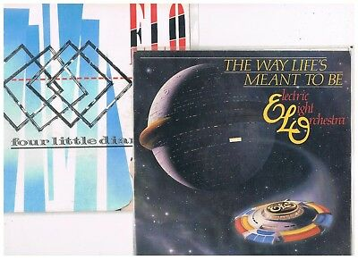 """2 x 7"""" - ELECTRIC LIGHT ORCHESTRA - WAY LIFE`S MEANT / 4 LITTLE DIAM. dutch PS"""