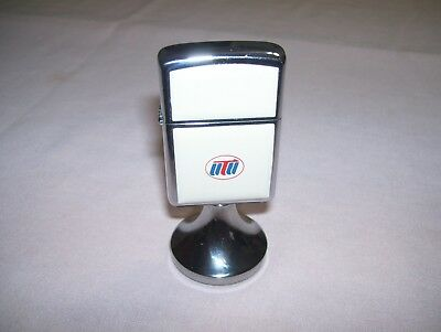 Old Vintage ZIPPO Table Desk Lighter Advertising and Unfired Mint without Box