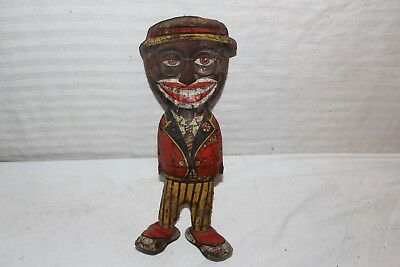 Antique Vintage 1930's Marx Dancing Man Black Americana Tin Litho Wind Up Toy