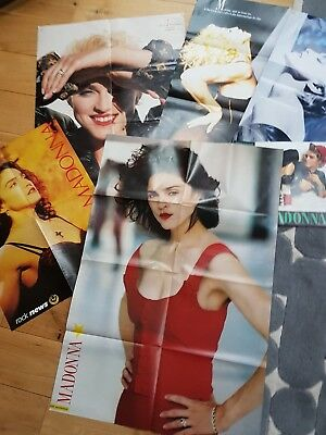 6 X Vintage early madonna posters from 1980s from magazines Just 17, Smash Hits