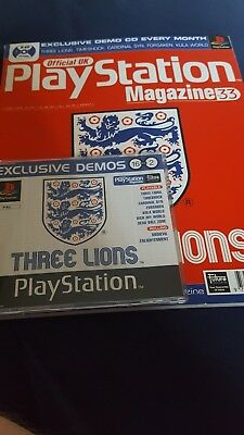 Official UK Playstation Magazine Issue 33 Complete with Demo Disc Three Lions