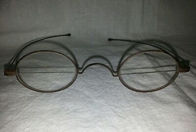 Old Antique Victorian Spectacles / Eyeglasses Wire Rim Rims Bifocal Grandfathers
