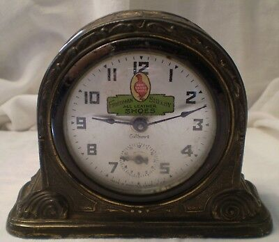 Antique Advertising Alarm Clock Red Goose Shoes Friedman Shelby Wind