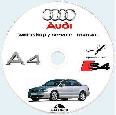 Workshop Manual AUDI A4 Berlina Avant e S4 tipo B5