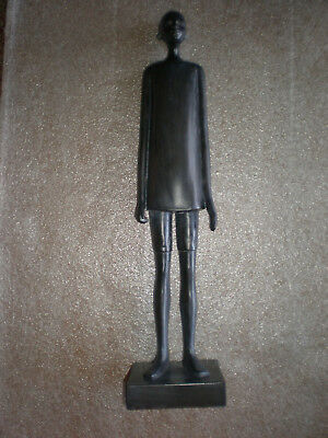 "African Man Boy 16"" Tall Collectable Wearing Shorts Statue Sculpture Figurine"