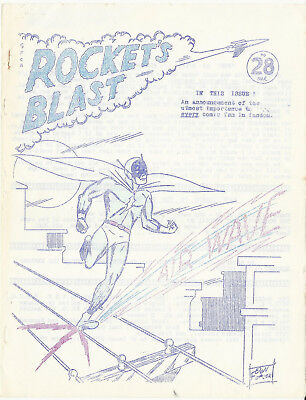 Very Early Comics Fanzine THE ROCKET'S BLAST #28 - March 1964
