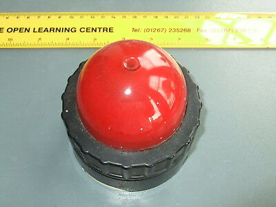 GPO RED WARNING LIGHT - SURFACE MOUNTED with SBC LAMPHOLDER 50 Volts Max  (Used)