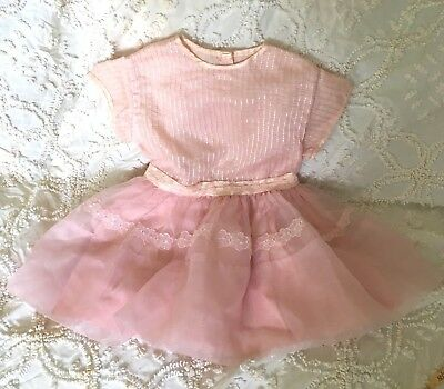 Vintage Girls Dress Pretty In Pink Party Dress!