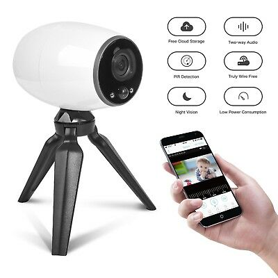 GJT Wireless IP Camera with Free Cloud Storage, Night Vision, Remote View