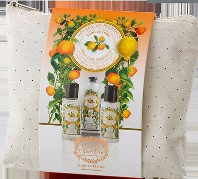 Panier Des Sens,  3 Piece Travel Set In Zippered Pouch, French Provence (Citrus)